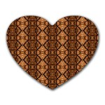 Faux Animal Print Pattern Mouse Pad (Heart) Front