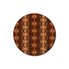 Faux Animal Print Pattern Drink Coaster (round) by creativemom