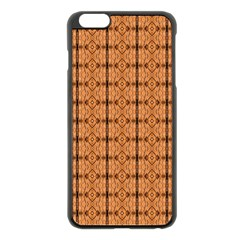 Faux Animal Print Pattern Apple Iphone 6 Plus Black Enamel Case by creativemom