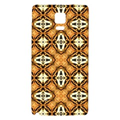 Faux Animal Print Pattern Samsung Note 4 Hardshell Back Case by creativemom