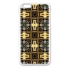 Faux Animal Print Pattern Apple Iphone 6 Plus Enamel White Case by creativemom