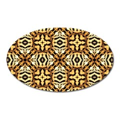 Faux Animal Print Pattern Magnet (oval) by creativemom