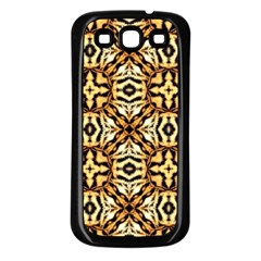 Faux Animal Print Pattern Samsung Galaxy S3 Back Case (black) by creativemom
