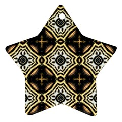 Faux Animal Print Pattern Star Ornament by creativemom