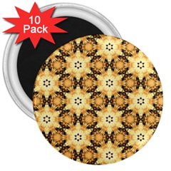 Faux Animal Print Pattern 3  Button Magnet (10 Pack) by creativemom