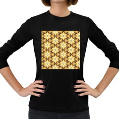 Faux Animal Print Pattern Women s Long Sleeve T Shirt (dark Colored) by creativemom
