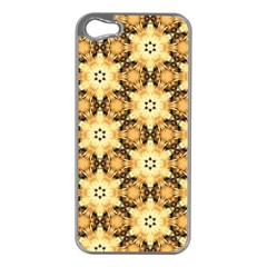 Faux Animal Print Pattern Apple Iphone 5 Case (silver) by creativemom