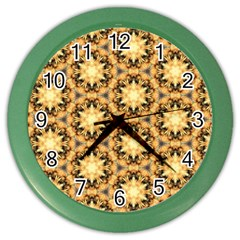 Faux Animal Print Pattern Wall Clock (color) by creativemom