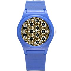 Faux Animal Print Pattern Plastic Sport Watch (small)