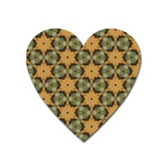 Faux Animal Print Pattern Magnet (heart)