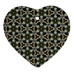 Faux Animal Print Pattern Heart Ornament by creativemom
