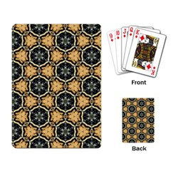 Faux Animal Print Pattern Playing Cards Single Design
