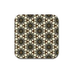 Faux Animal Print Pattern Drink Coaster (square)