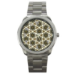 Faux Animal Print Pattern Sport Metal Watch
