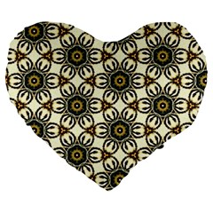 Faux Animal Print Pattern 19  Premium Heart Shape Cushion by creativemom