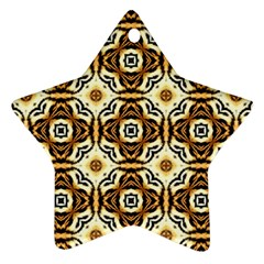 Faux Animal Print Pattern Star Ornament