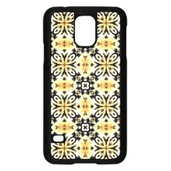 Faux Animal Print Pattern Samsung Galaxy S5 Case (black) by creativemom