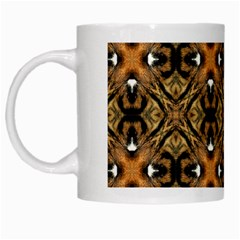 Faux Animal Print Pattern White Coffee Mug by creativemom