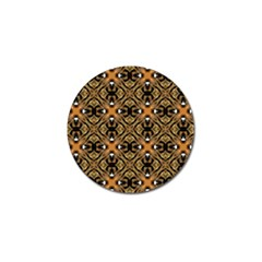 Faux Animal Print Pattern Golf Ball Marker 10 Pack