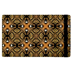 Faux Animal Print Pattern Apple Ipad 2 Flip Case by creativemom