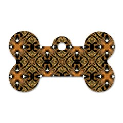 Faux Animal Print Pattern Dog Tag Bone (one Sided)