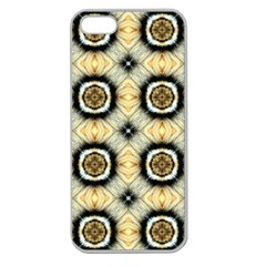 Faux Animal Print Pattern Apple Seamless Iphone 5 Case (clear) by creativemom