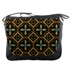 Faux Animal Print Pattern Messenger Bag
