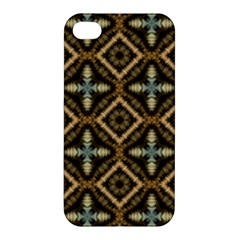 Faux Animal Print Pattern Apple Iphone 4/4s Premium Hardshell Case by creativemom