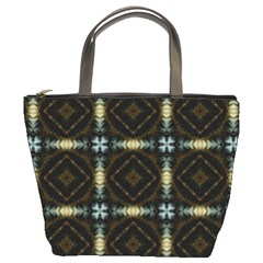 Faux Animal Print Pattern Bucket Handbag