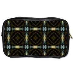 Faux Animal Print Pattern Travel Toiletry Bag (two Sides)