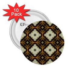 Faux Animal Print Pattern 2 25  Button (10 Pack)