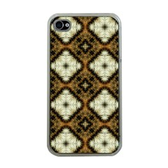 Faux Animal Print Pattern Apple Iphone 4 Case (clear) by creativemom