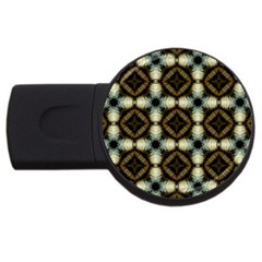 Faux Animal Print Pattern 4gb Usb Flash Drive (round)
