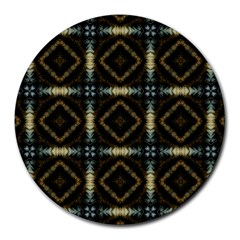 Faux Animal Print Pattern 8  Mouse Pad (round) by creativemom