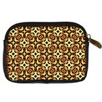 Faux Animal Print Pattern Digital Camera Leather Case Back