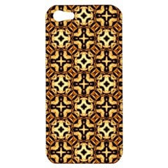 Faux Animal Print Pattern Apple Iphone 5 Hardshell Case by creativemom