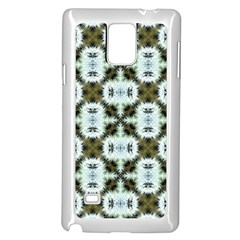 Faux Animal Print Pattern Samsung Galaxy Note 4 Case (white) by creativemom