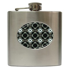 Faux Animal Print Pattern Hip Flask