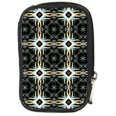 Faux Animal Print Pattern Compact Camera Leather Case