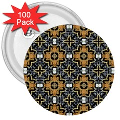 Faux Animal Print Pattern 3  Button (100 Pack)