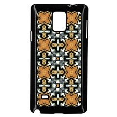 Faux Animal Print Pattern Samsung Galaxy Note 4 Case (black) by creativemom