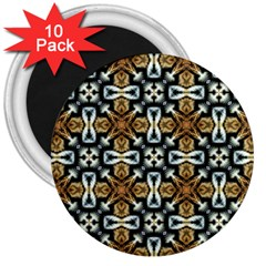 Faux Animal Print Pattern 3  Button Magnet (10 Pack)