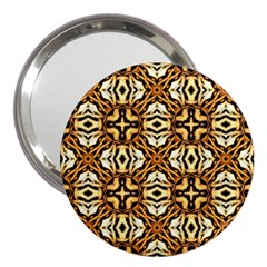 Faux Animal Print Pattern 3  Handbag Mirror