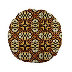 Faux Animal Print Pattern 15  Premium Round Cushion  by creativemom