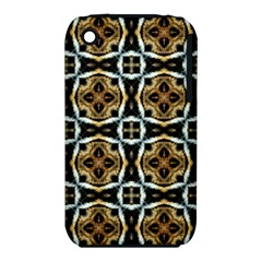 Faux Animal Print Pattern Apple Iphone 3g/3gs Hardshell Case (pc+silicone) by creativemom
