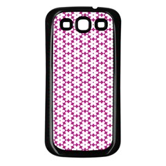 Cute Pretty Elegant Pattern Samsung Galaxy S3 Back Case (black) by creativemom