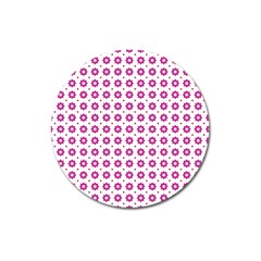 Cute Pretty Elegant Pattern Magnet 3  (round) by creativemom