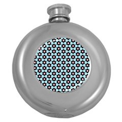 Cute Pretty Elegant Pattern Hip Flask (round) by creativemom