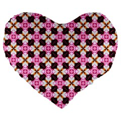 Cute Pretty Elegant Pattern 19  Premium Heart Shape Cushion