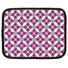 Cute Pretty Elegant Pattern Netbook Sleeve (xl) by creativemom